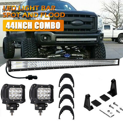 42INCH 2256W 4ROW FLOOD SPOT COMBO CURVED LED LIGHT BAR DRIVING OFFROAD LAMP SUV