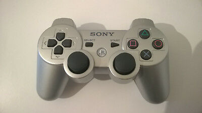 SONY PS3 WLAN Controller Dualshock 3 Sixaxis silber sehr guter Zustand