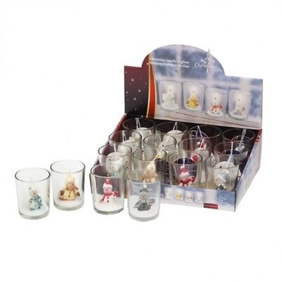 Snowman Christmas Novelty Tealight Candles Snowman Character Candles In Holder
