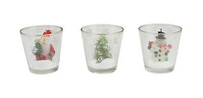 Christmas Novelty Tealight Candles Santa Clause Christmas Tree Snowman In Holder