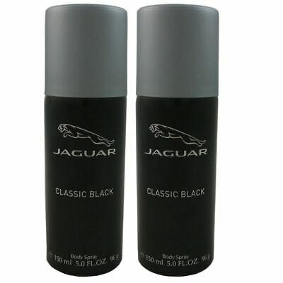 Jaguar Classic Black 2 x 150 ml Body Spray Deo Spray Bodyspray Set