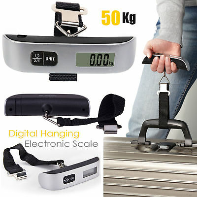 50kg Portable Digital Electronic Weighing Scale Handheld Travel Suitcase Luggage