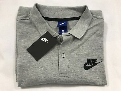 Men's Nike Homme Classic Golf Fitness Smart Casual Polo Shirt Grey Brand New