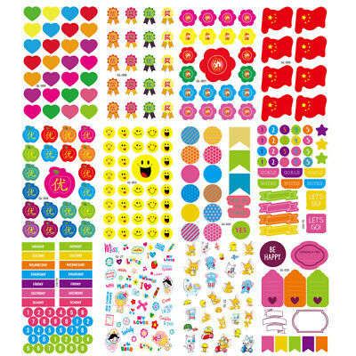 5Sheets Exquisite Children Cute DIY Diary Sticker Toy Glass Photo Stickers Decor