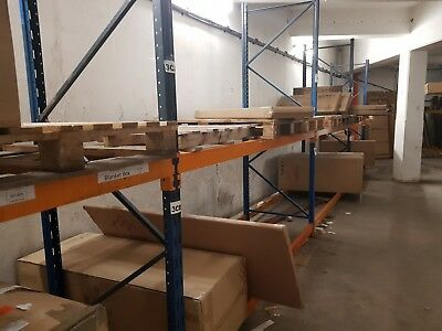 Pallet Racking System 30 X 2.43 Uprights 46 X  2.74 Side Rails Used But Great