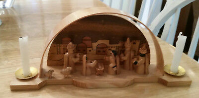 Nativity Set with candle holders~Christmas Around the World