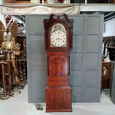Antique Mahogany English Grandfather Clock