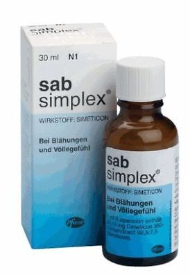 Sab Simplex Drops,Suspension-Colic Baby,Bloating,stomach Aches 30 ml