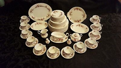 Royal Albert Lavender Rose Place Settings for 12 - Complete Set of 71 Pieces