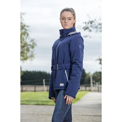 Mark Todd Ladies Short All Weather Waterproof Jacket Removable Hood Navy XS-XL
