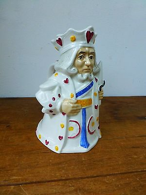 H J Wood Toby Jug - Playing Cards - King of Hearts