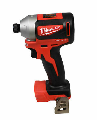 """New Milwaukee M18 Compact Brushless 2850-20 1/4"""" Hex Impact Driver (Bare Tool)"""