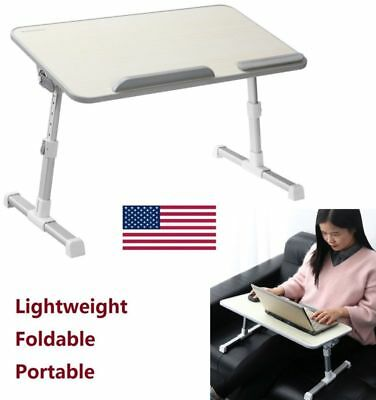 Portable Folding Laptop Notebook PC Desk Table Adjustable Stand Tray Workstation
