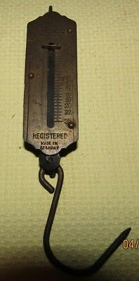 Vintage Small*Brass Faced*1 - 25 LBS Pocket Balance Scale