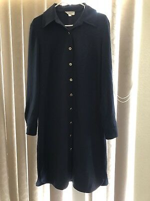 st. John Sport By Marie Gray Navy Button Front Dress Size M