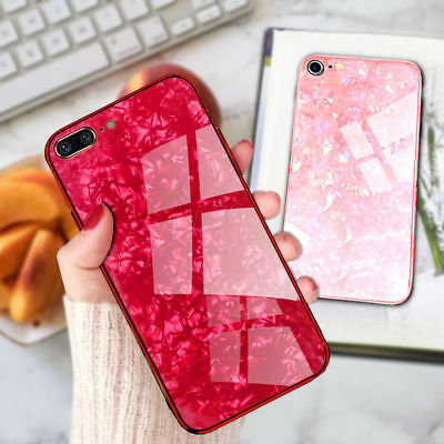 For iPhone XR X 7 8 Plus Case 3D Tempered Glass Shockproof 360 Marble Cover