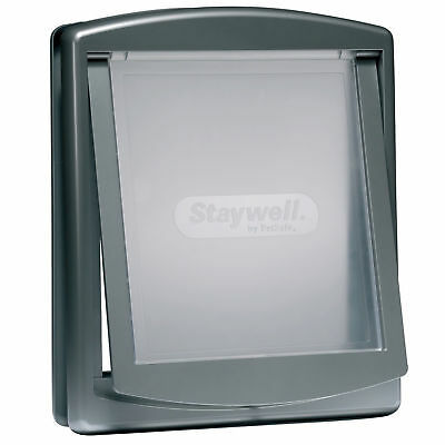 New Staywell PetSafe 777 Big Grey Large Big Dog Door With See Through flap