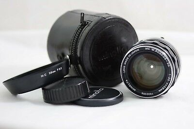 Minolta Md 28Mm F3.5 Mc W.rokkor Sg Wide Angle Camera Lens (Near Mint)