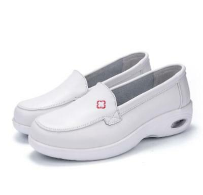 Womens Slip on Platform Wedge White Nurse Shoes Air Loafers Casual Sneakers HOT