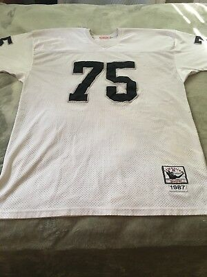 new products 56b7a 3751b MITCHELL & NESS Howie Long Oakland Raiders Sz 56 Authentic Throwback Jersey  1987