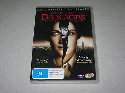 Damages - Complete Season 1 - 3 Disc - PAL - VGC - DVD
