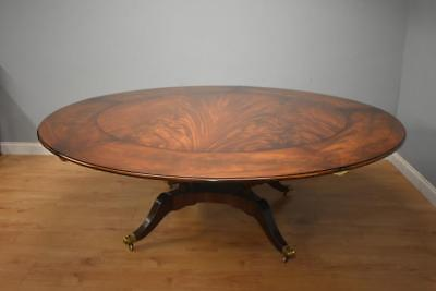 20th Century George III Style Flame Mahogany Jupe Table