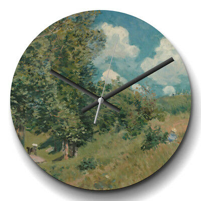 Large Wall Clock Silent 32cm Home Decor Alfred Sisley Versailles Route Painting