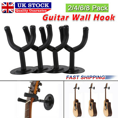 12x Wall Hangers foam padded hook Mount Holder for Electric Acoustic Bass Guitar