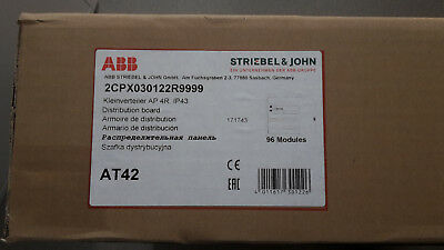 STRIEBEL & JOHN AT 42 AP-Kleinverteiler 2x4 reih. 96 TE ABB IP43 - neu -