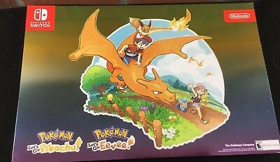 Nintendo Pokemon Map 318093 Let's Go Pikachu / Eevee Poster 1 Qty