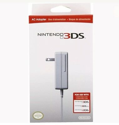 Genuine OEM Nintendo 3Ds DSi 3DsXL DSiXL 2Ds 2dsXL AC Adapter WALL CHARGER NIB