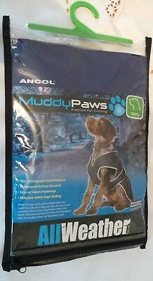 Ancol Muddy Paws Granite Grey/Spiced Red All Weather Stormguard Dog Coat Small