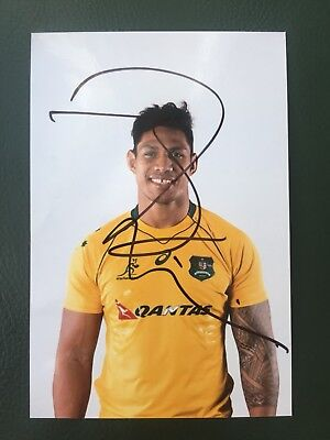 Lopeti Timani - Australia Rugby Player Signed 6x4 Photo