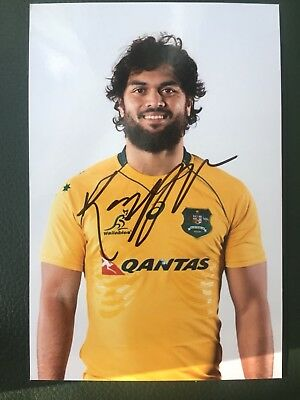 Karmichael Hunt - Australia Rugby Player Signed 6x4 Photo