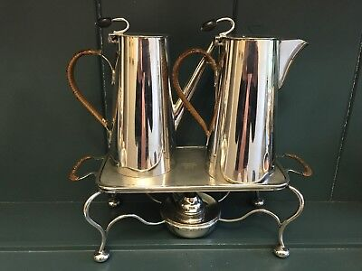 An Asprey & Co., Silver plated Bachelor's Coffee And Hot Water Jug, C 1900/1909.