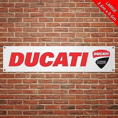 ZB037 LARGE Ducati Logo Corse garage workshop PVC banner sign