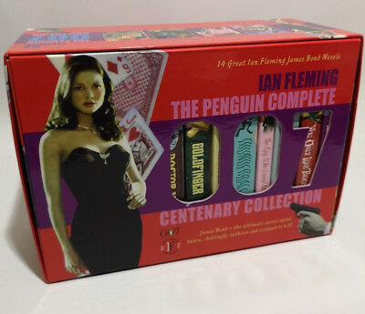 Ian Fleming 007 Penguin Complete Centenary Collection 14 Book Boxset James Bond
