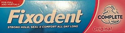 3 x Fixodent Original Complete Denture Adhesive Strong Food Seal Comfort 47g NEW