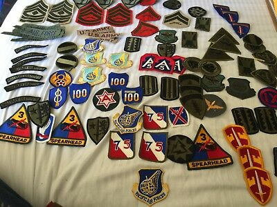 military patches and chevrons mixed VINTAGE