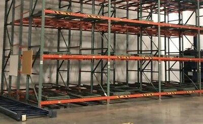 Industrial Pushback Pallet Rack - 3 Deep X 3 High 3 Bay 54 Pallets Position