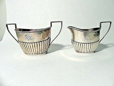 Vintage Sterling Silver Creamer & Sugar Bowl Set By Gorman