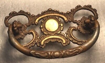 """CHIPPENDALE 3"""" Drawer Pull, Antique Solid Brass Per Each"""