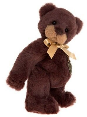 """Charlie Bears DAVE CB171767 - 8"""" Jointed Plush Bear by Isabelle Lee 2017 - NEW!"""