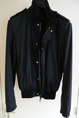 81a97a87664a DIOR HOMME - Blouson Veste Jacket Trench Blue Navy Size 48 M Medium Zip SS00