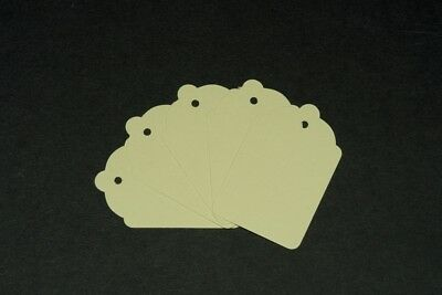 100 Cream Unstrung Tickets 69Mm X 44Mm Price Tagging Tags Blank Craft Labels