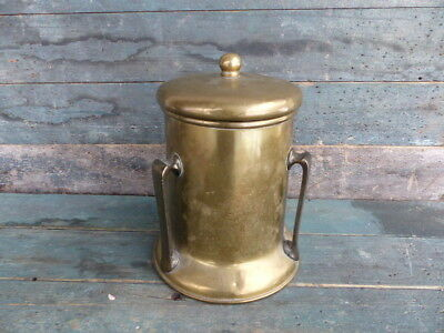 antique three handle brass stove top humidore or humidifier smoking or kitchen