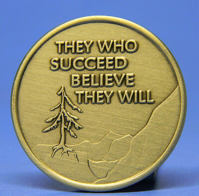 Sobriety Bronze Chip - Medallion - Succeed -  Recovery