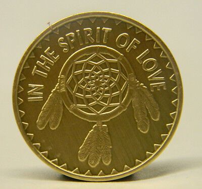 Aa Sobriety Medallion - Bronze - In The Spirit Of Love -Recovery Chip