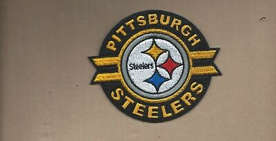 New 3 1/2 X 4 Inch Pittsburgh Steelers Iron On Patch Free Shipping