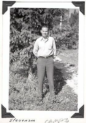 Vintage Photograph 1940 Camp 3 Pocono St Maries Idaho Forestry Workers Old Photo